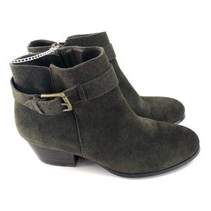 Guess Green Suede Booties Size 7